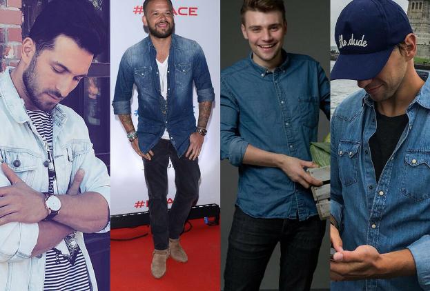 Najmodniejsze jeansowe koszule męskie 5 stylizacji Pudelek