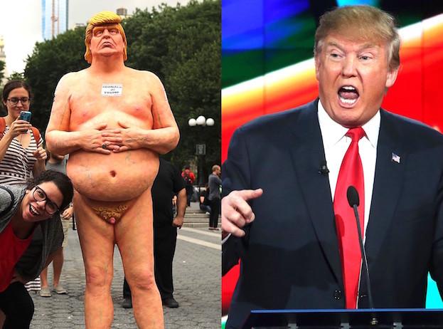 Trump nago
